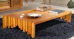 صورة طاولة خشب ارضيه , طاولات ارضية عصرية وعملية