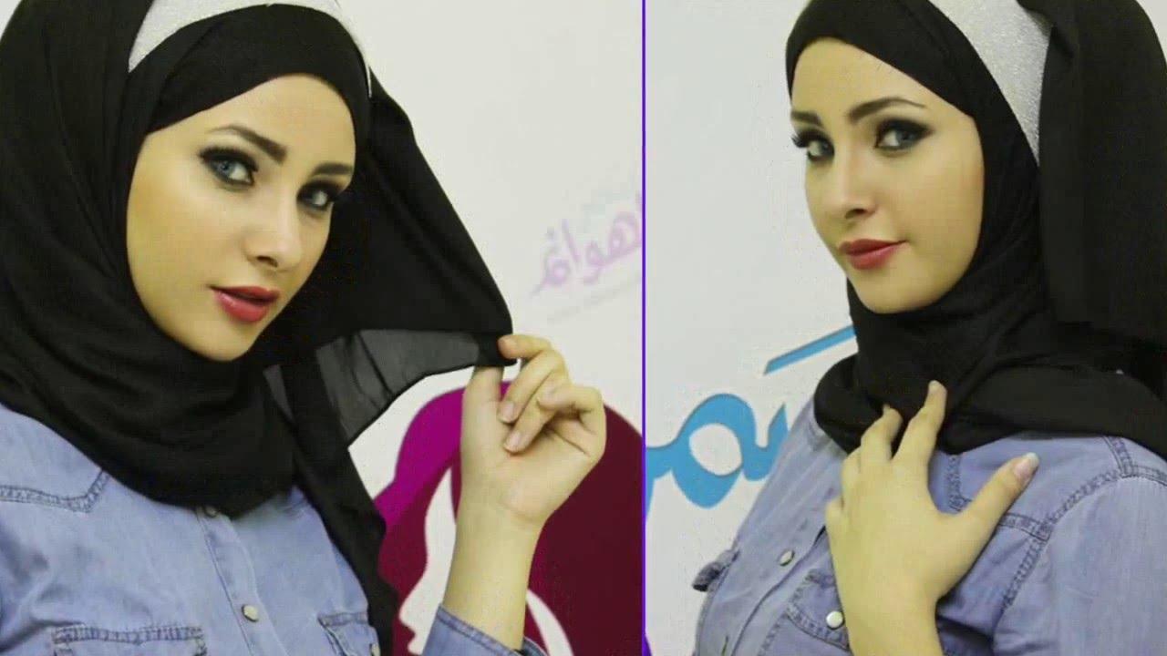 صورة لفات حجاب خليجي , احدث لفات الحجاب علي الموضه
