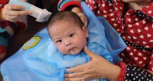 صورة كيفية حلق شعر المولود , احلق شعرى ابنى ازاى