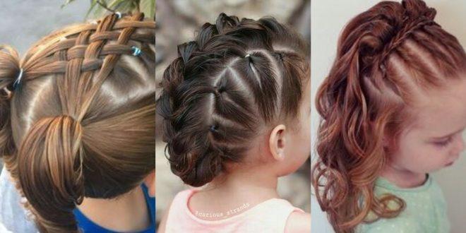 صورة اجمل تسريحات شعر الاطفال , استايل مميز لشعر بنوتك