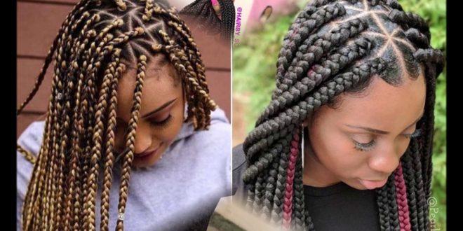 صورة عمل ضفائر الشعر , تسريحه شعر تتميز بها الفتاه