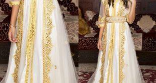 صورة قفطان ابيض للعروس , تانقي بفستانك الابيض