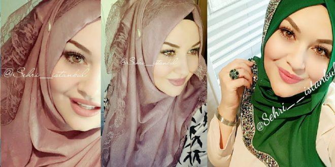 صورة لفات حجاب للعيد , واو ماشوفت اجمل من هذا الحجاب