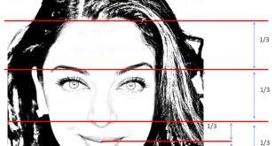 صورة مقاييس جمال الوجه , علامات الوجه الجميل