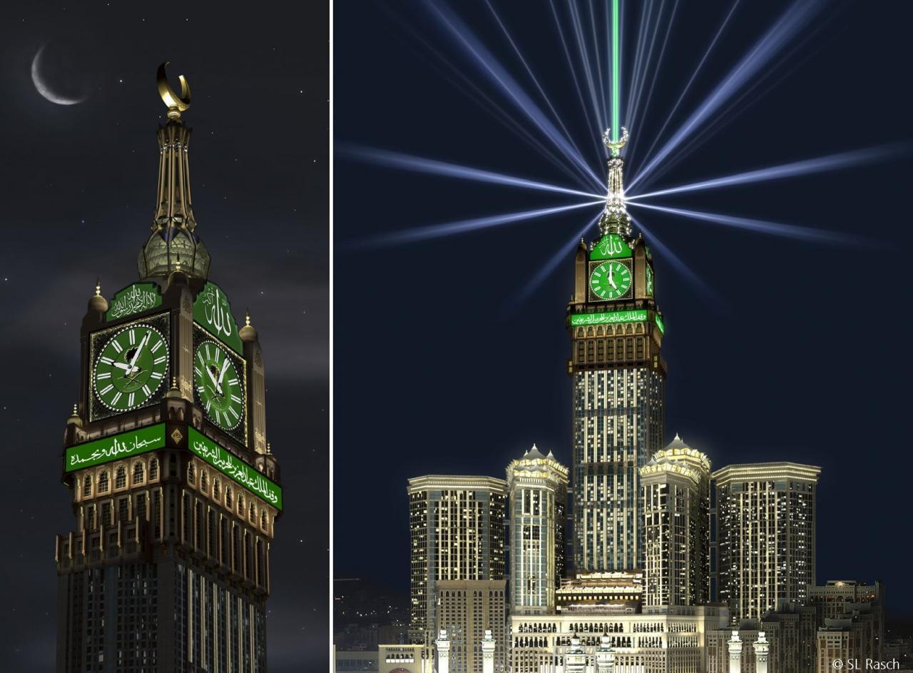 صورة برج الساعة مكة , ابرز المعالم فى المدينة المقدسة