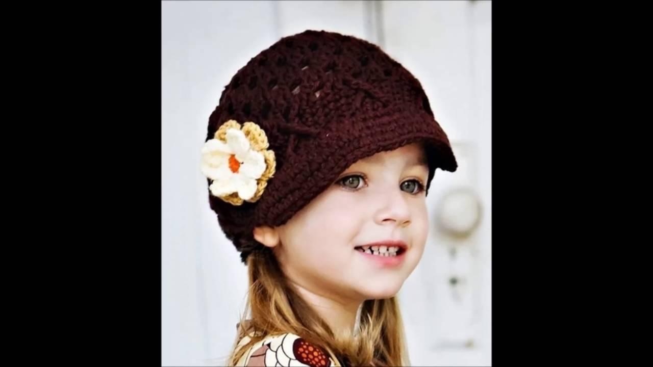 صورة قبعات للبنات الصغار , بنوتى انيقة بطريقة جديدة