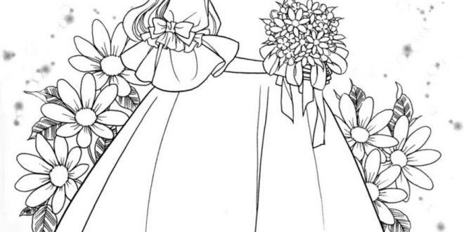 صورة تلوين رسومات بنات , الرسم دنيا جميلة من صنع طفلك